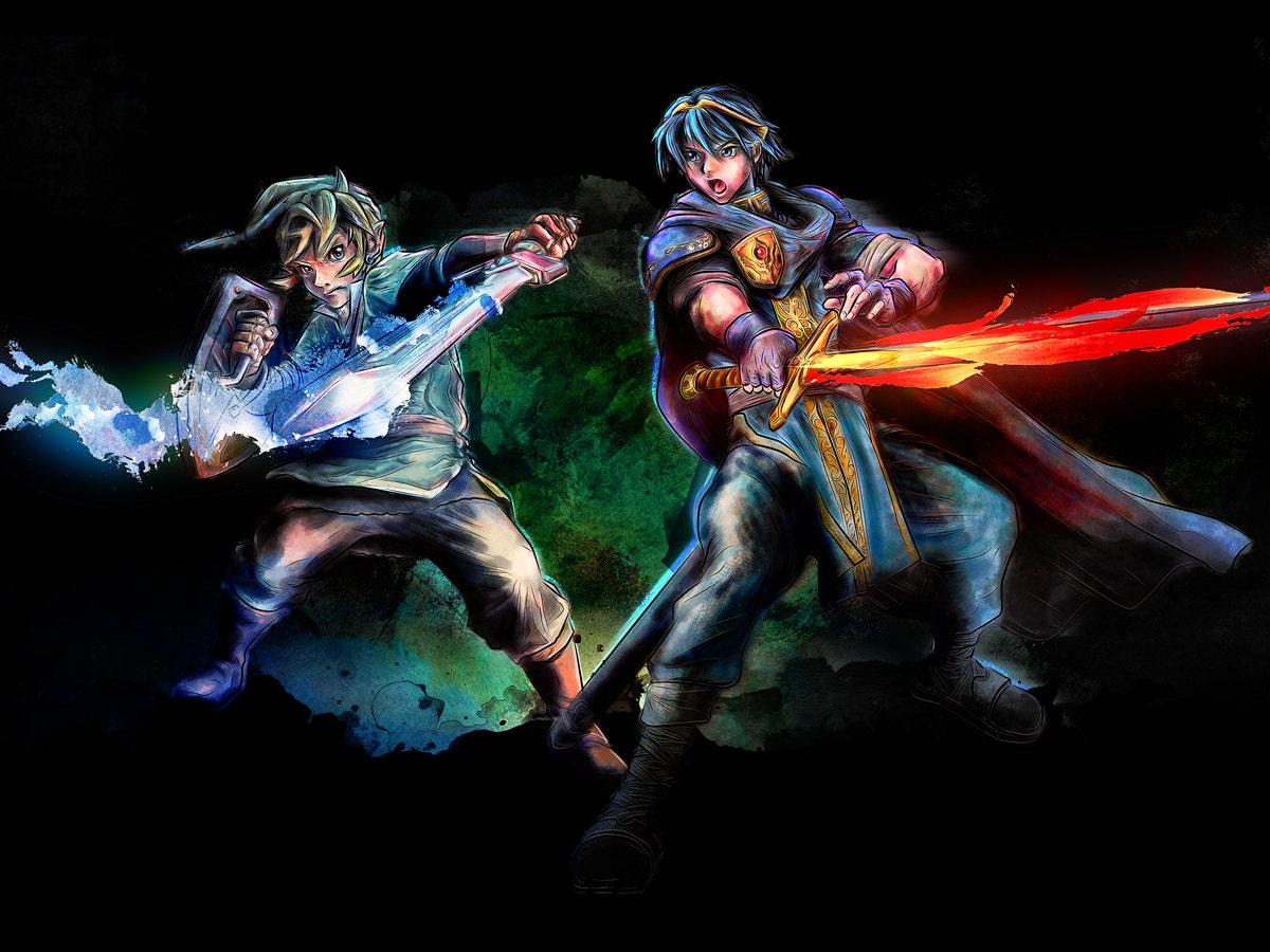Legend Of Zelda Link And Fire Emblem Marth Smash Brothers