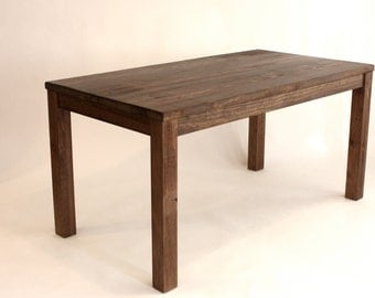 Parsons Kitchen Table, Reclaimed Wood Dining Table