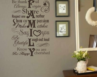 Superbe Family Wall Decal   Family Wall Decor   Vinyl Wall Decal   Subway Style Wall  Decals