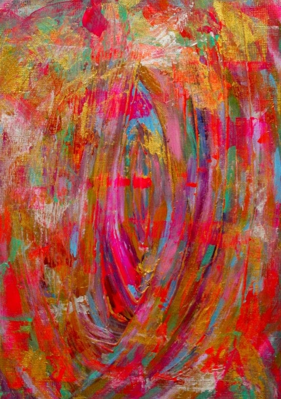 Items similar to colorful abstract painting original for Acrylic painting on paper tips
