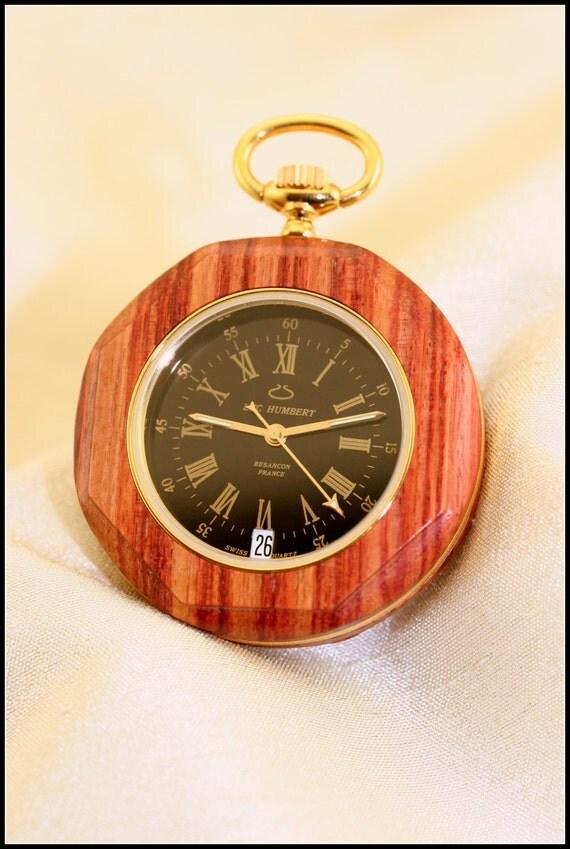 wooden pocket watches wood pocket swiss