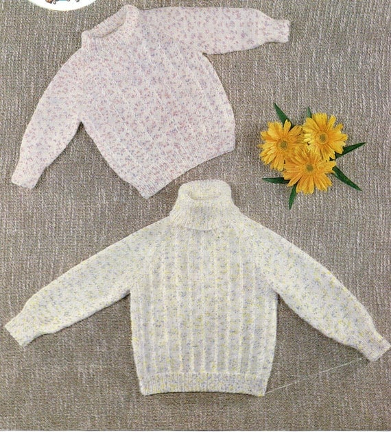 baby sweater knitting pattern polo neck sweater ribbed sweater baby jumper cr...