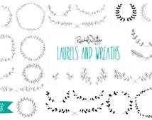 Laurels Vector Illustrations - AI EPS and PNG - 23 Images in Gold Foil, Black, White, and Color - Instant Download