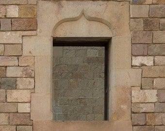 Architectural detail, Fine Art photography, Architectural prints, Gothic art, Barcelona art, Fine Art prints, Sienna wall art