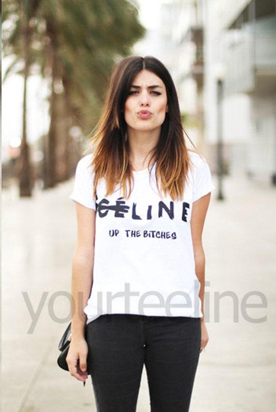 Celine line up tshirt, logo t-shirt, tshirt