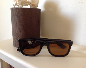 Wayfarer Sunglasses - Unique Sunglasses - Classic Sunglasses - Men Sunglasses - 1990s Sunglasses - Black Sunglasses - True Vintage Glasses