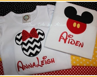 Minnie and Mickey Family Shirts