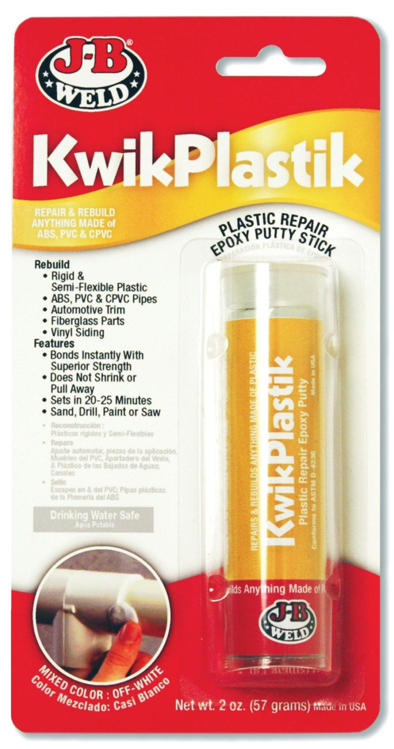 J B Weld Kwikplastik 2 Part Epoxy Strong Amp Quick Repair Of