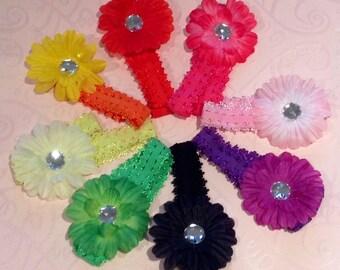 Girls Chrysanthemum Flower Hairband