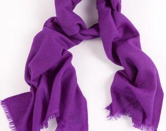 Purple 100% Cashmere Scarf
