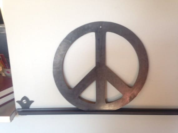 Peace Sign Wall Decor Metal : Peace sign metal wall art