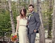 Two Piece Trendy Wedding Dress Lace Crop Shirt Libraby Length Silk Skirt