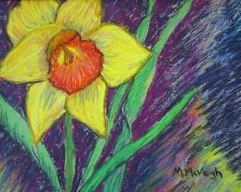Original Pastel Daffodil
