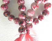 "20"" string ( 24 Pcs) rare 20 mm Handmade beautiful flower design ceramic beads/pottery beads string/Porcelain ceramic beads"