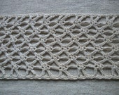 Vintage French Crochet Runner for decor or supply reworking crafts etc