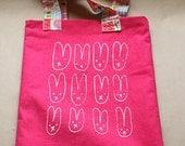 bunny rabbit tote bag - small