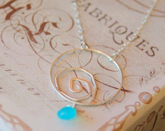 Swirling Spiral with Chalcedony Necklace