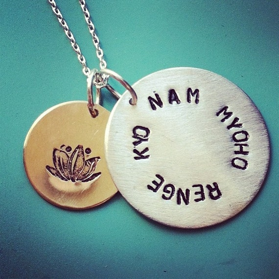 nam myoho renge kyo necklace by sudlow on etsy
