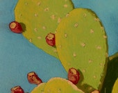 Original Soft Pastel Study of Cactus with Fruit Tunas by Diane Cutter / SFA