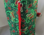 Christmas Paisley WIP Bag