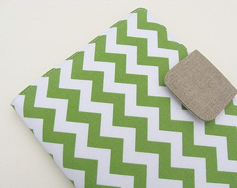 Kindle Cover Kindle Fire Cover Nook Simple Touch Cover iPad Mini Cover Kobo Cover Case Green Chevron Zig Zag eReader