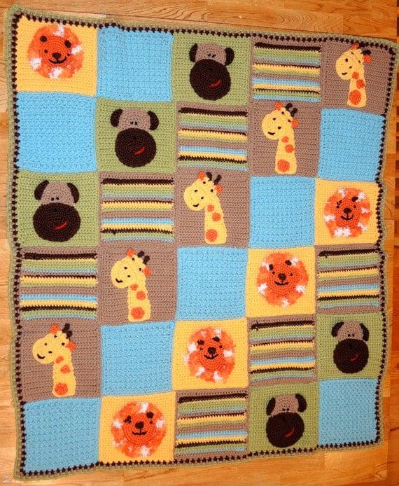 Jungle Pals Baby Blanket CROCHET PATTERN - Ponte Pretties from Pontepretties ...