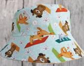 Kids Child Children Reversible Fabric Bucket Hat Baby Yoga