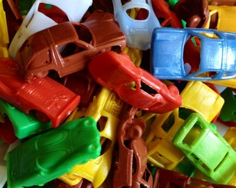 5pcs TINY TOY CARS Vintage Plastic Prizes