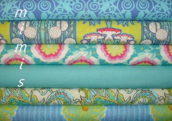 Soul Blossoms / Amy Butler Fabric / 6 Half Yard  Bundle / Premium Cotton Quilt & Apparel Fabric