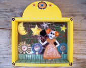 Day of the Dead Catrina Mosaic Tile Nicho Retablo