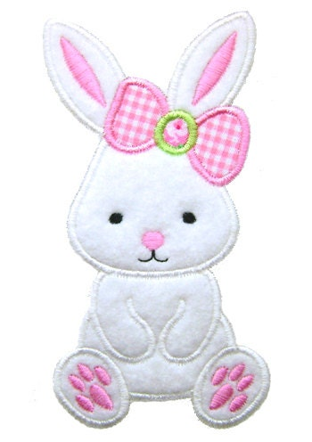 Easter Bunn In An Egg Embroidery Design