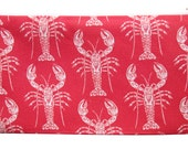 NEW lobster zippered pouch
