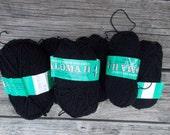 7 skeins Reynolds Yarns Paloma II black yarn  NOS