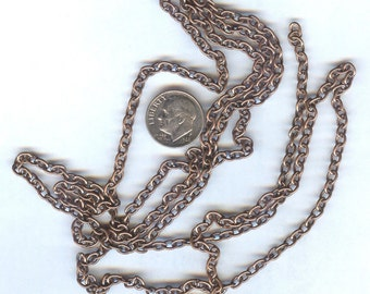 STUNNING Antique Copper Small Oval Link Chain 45""