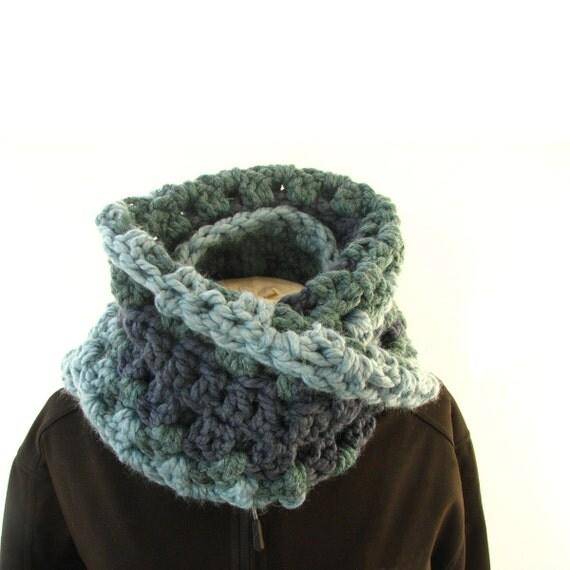 Crochet Pattern Notation : Super chunky infinity scarf pattern, crochet digital pdf ...