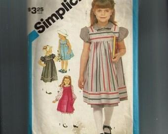 Simplicity Girls' Dress , Sundress, and Jumper Pattern 6500