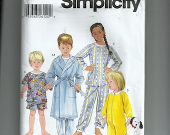 Simplicity Child's Sleepwear and  Robe Pattern  5874