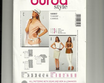 burda Shirt Pattern 7508