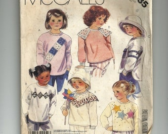 McCall's Children's Top For Stretch Knits Only Pattern 3435