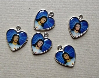 Jesus heart charms