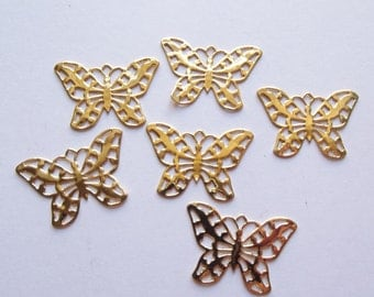 Vintage gold plated butterfly findings