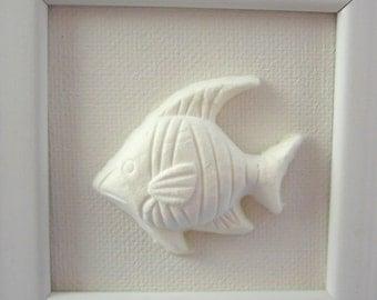 Cast Paper  Handmade Sculpture of Fish