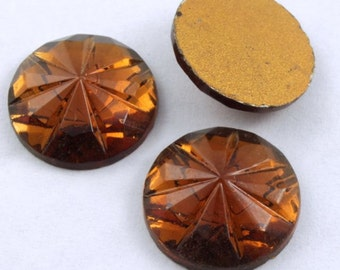 15mm Faceted Smoked Topaz Cabochon #299