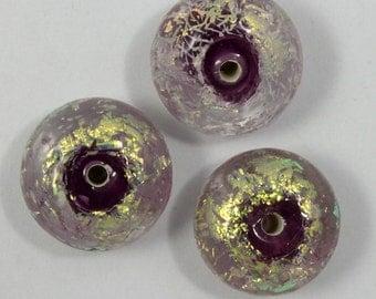8mm x 12mm Dichroic Lavender Bead  #GAL015