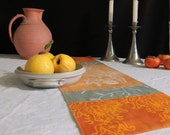 organic batik love birds thanksgiving table runner