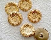 6 buttons, gold tone buttons, shank buttons, 1 inch  buttons