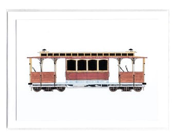 Cable Car - Notecard