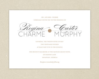 Wedding Invitations: Classic Elegance Wedding Collection
