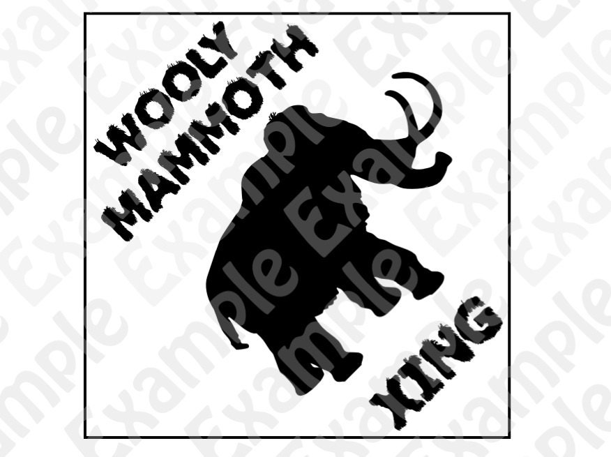 Etsy Caveman Signs : Pdf wooly mammoth crossing sign dinosaur themed party