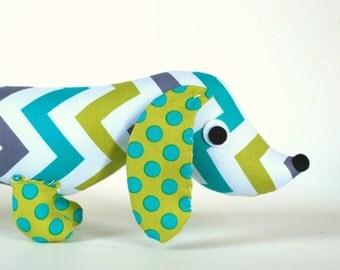 Stuffed Wiener Dog, Dachshund, Soft Toy, New Baby Gift, Kids Toy SIMON